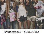 diversity teens friends concept | Shutterstock . vector #535603165