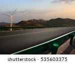 empty road surface floor with ... | Shutterstock . vector #535603375