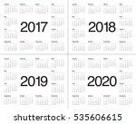 simple calendar template for...   Shutterstock .eps vector #535606615