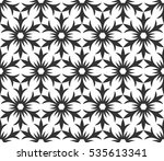 monochrome geometric seamless... | Shutterstock .eps vector #535613341