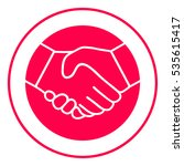 symbol of handshake in circle.... | Shutterstock .eps vector #535615417