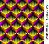seamless 3d cubes pattern.... | Shutterstock .eps vector #535620199
