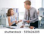 asian business team working on... | Shutterstock . vector #535626205
