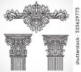 vintage architectural details... | Shutterstock .eps vector #535629775