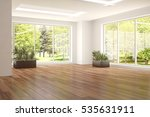 white empty room with green... | Shutterstock . vector #535631911