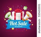 winter hot sale announcement... | Shutterstock .eps vector #535632031