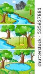 nature scenes with river and... | Shutterstock .eps vector #535637881