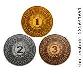 medal  coins awarding gold ... | Shutterstock . vector #535641691