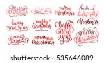 merry christmas vector text... | Shutterstock .eps vector #535646089
