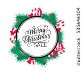 merry christmas sale background.... | Shutterstock .eps vector #535646104