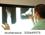 specialist watching images of... | Shutterstock . vector #535649575