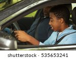 teenager learning how to drive. | Shutterstock . vector #535653241