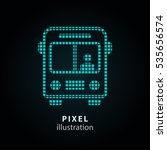 bus   pixel icon. vector... | Shutterstock .eps vector #535656574
