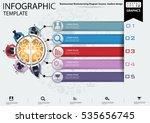 businessman brainstorming... | Shutterstock .eps vector #535656745