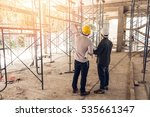 two business man construction... | Shutterstock . vector #535661347