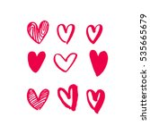 valentine day hearts pattern.... | Shutterstock .eps vector #535665679