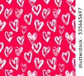pink hearts pattern background...