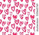 valentine day hearts pattern.... | Shutterstock .eps vector #535665769
