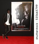 """Small photo of NEW YORK-DEC 13: Michael K. Williams attends the screening of """"Assassin's Creed"""" at AMC Empire on December 13, 2016 in New York City."""