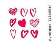 valentines hearts. saint... | Shutterstock .eps vector #535665964