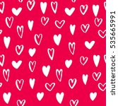 vector heart seamless pattern....