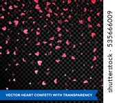 hearts petals confetti falling... | Shutterstock .eps vector #535666009