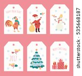 set of christmas stickers | Shutterstock .eps vector #535668187