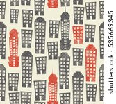seamless abstract pattern with... | Shutterstock .eps vector #535669345