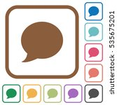 blog comment simple icons in... | Shutterstock .eps vector #535675201