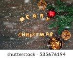 merry christmas word written...   Shutterstock . vector #535676194