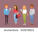vector set of young people with ... | Shutterstock .eps vector #535678021
