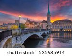 zurich. cityscape image of... | Shutterstock . vector #535685914