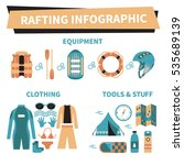 rafting infographic elements.... | Shutterstock .eps vector #535689139