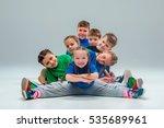 the kids dance school  ballet ... | Shutterstock . vector #535689961