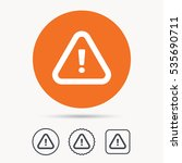 warning icon. attention... | Shutterstock .eps vector #535690711