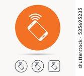 cellphone icon. mobile phone... | Shutterstock .eps vector #535695235