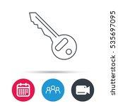 key icon. door unlock tool sign.... | Shutterstock .eps vector #535697095