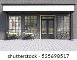 front view of a cafe exterior...   Shutterstock . vector #535698517