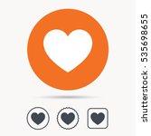 heart icon. romantic love... | Shutterstock .eps vector #535698655
