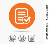 file selected icon. document... | Shutterstock .eps vector #535699885