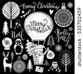 christmas and new year hand... | Shutterstock .eps vector #535702459