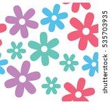 daisy seamless pattern | Shutterstock .eps vector #535703935