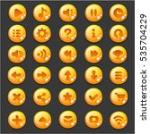vector set of buttons for... | Shutterstock .eps vector #535704229
