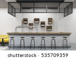front view of a bar stand with... | Shutterstock . vector #535709359