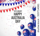 happy australia day 26 january... | Shutterstock .eps vector #535714081