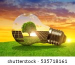 solar energy panels in light... | Shutterstock . vector #535718161