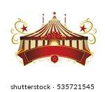 circus signboard. a circus... | Shutterstock .eps vector #535721545