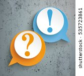 two speech bubbles with... | Shutterstock .eps vector #535723861