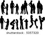 family shadow 1   vectros work | Shutterstock .eps vector #5357320
