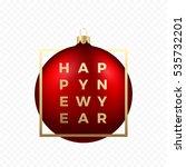 red christmas ball on... | Shutterstock .eps vector #535732201